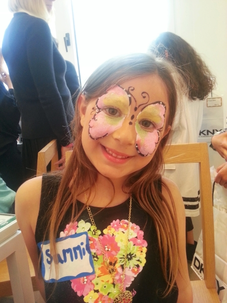 Butterfly face painting NYC