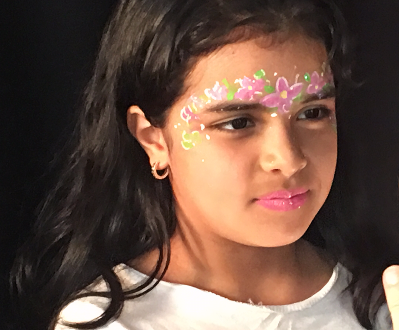 Flower Crown Fairy Face Painting bytle Kiki YC