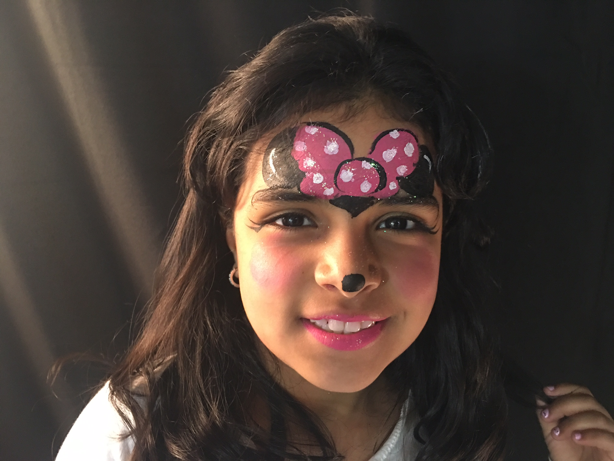 Minnie Mouse Face Painting NYC by Kiki
