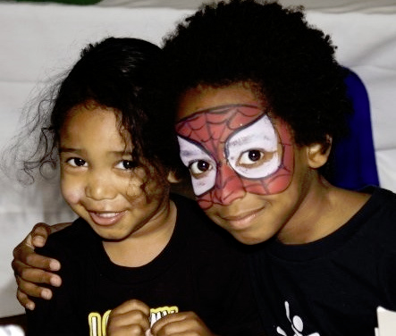 spiderman face painting NYC