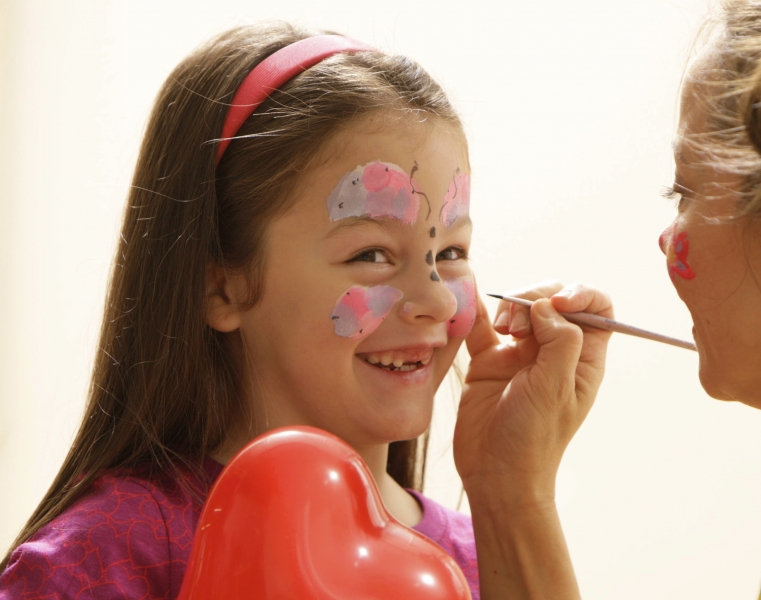 Butterfly face painting for parties in NYC