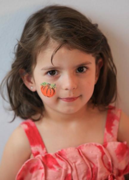 Pumpkin face painting NYC
