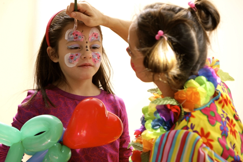Butterfly face painter birthday party NY