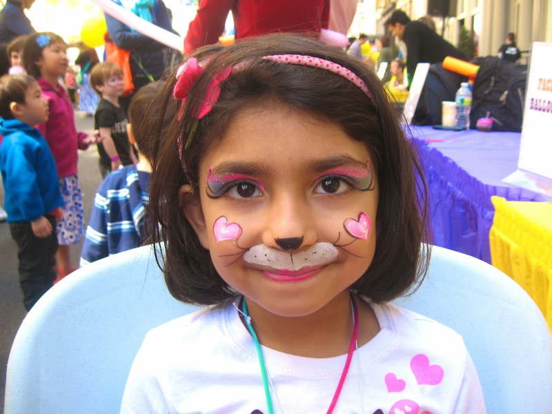 kitty hearts face painting NYC event corporate