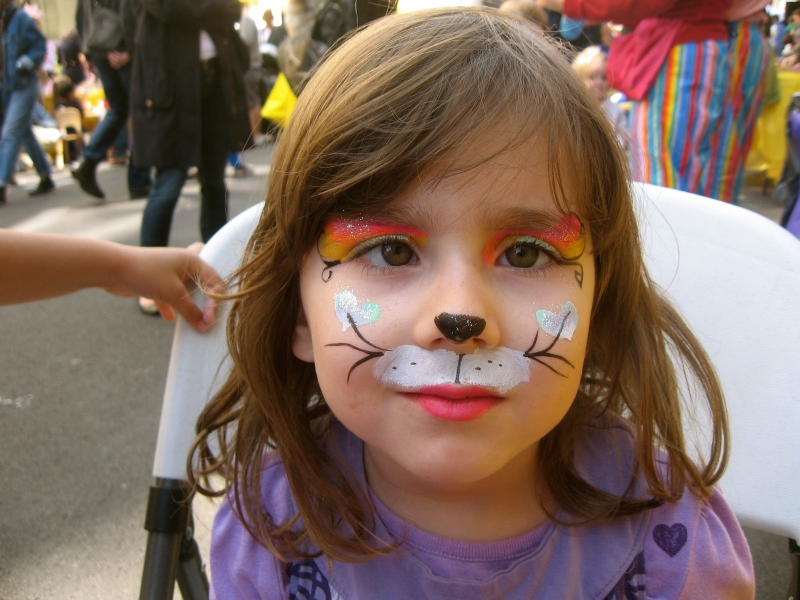 Basic Kitty Face Paint Kitty Rainbow Face Painting