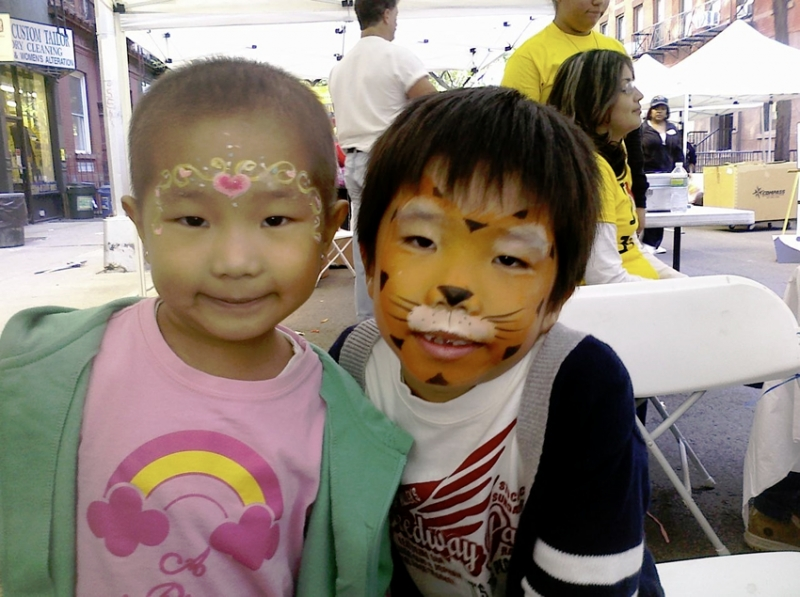 princess and tiger face painting in NY
