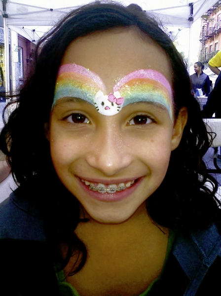 kitty rainbow face painting NYC