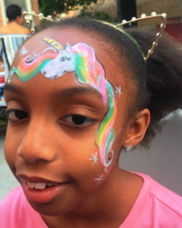 Rainbow Unicorn face painting