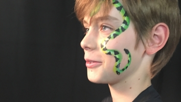 Snake Face Painting NYC by Kiki