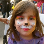 kitty rainbow face painting NYC party event