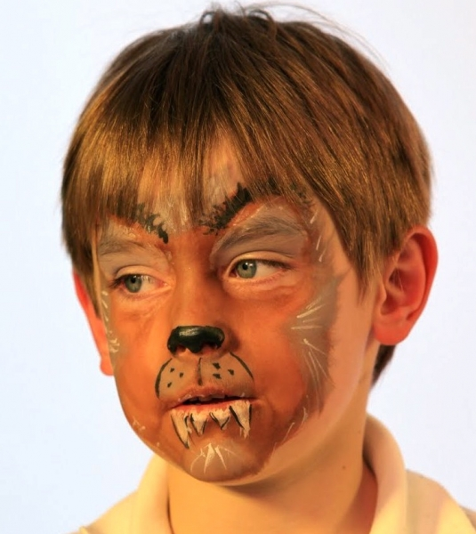 wolf face painting design