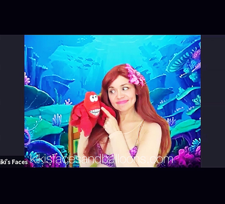 Virtual Little Mermaid birthday princess party