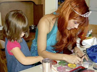 The Little Mermaid face painter in Manhattan