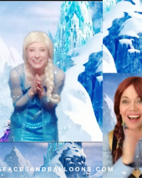 Virtual Princess Party Snow Queen and Ana Zoom kids birthday worldwide