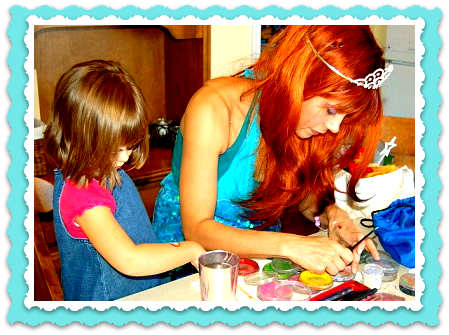 Little Mermaid Princess Ariel Face Painter birthday party character NYC Elsa anna face painting Frozen Moana Cinderella princesses Manhattan