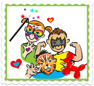 Kids Party Entertainment Packages Face Painter and Balloon Artist Childrens Clown Party NYC Face Painting Balloon Twisting Magic Toddler Games