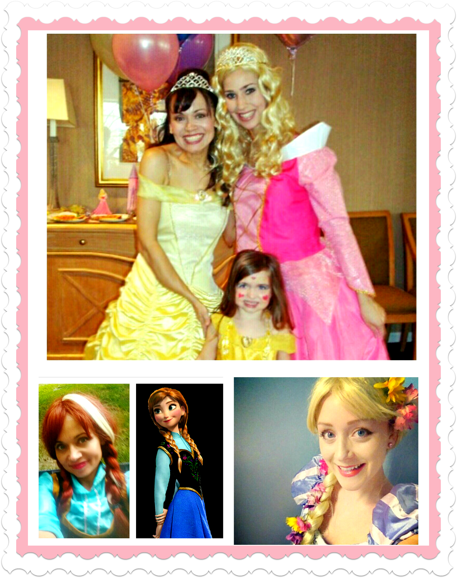 Pretty princesses, Elsa, Little Mermaid, Belle, Sleeping Beauty Children's party entertainment, face painting, balloonists, NYC Manhattan