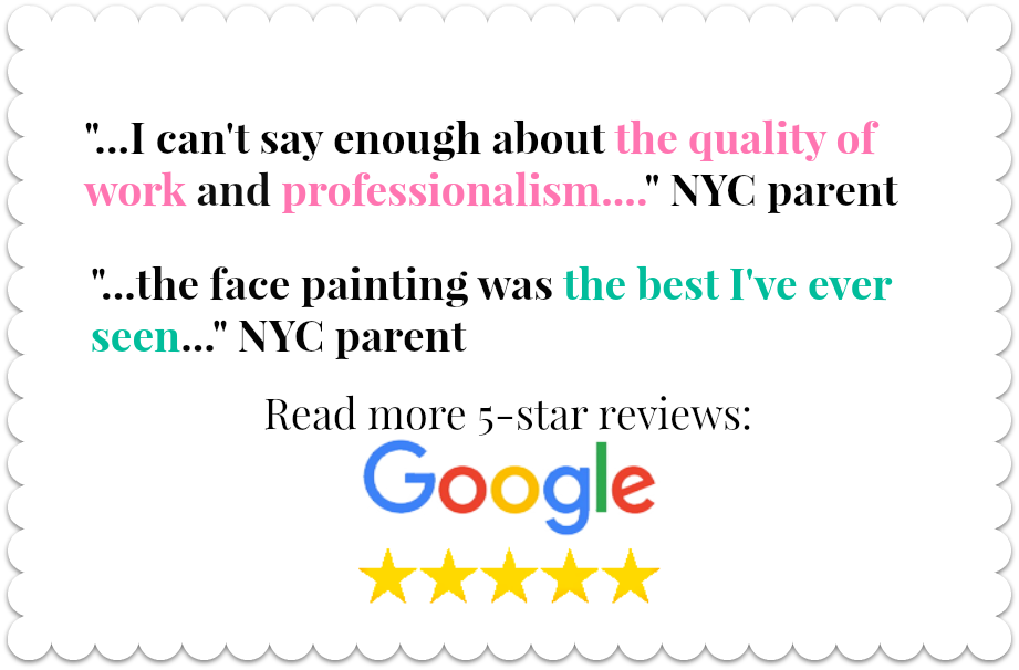 Read reviews Kiki's faces and Balloons face painters NYC
