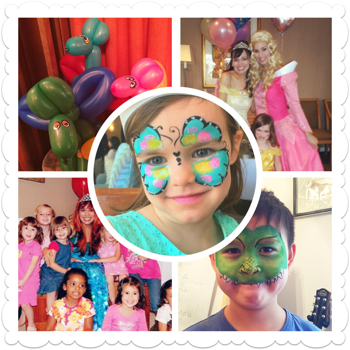 face painter and balloon artst kids party entertainment packages princesses Elsa Anna Clowns toddler parties face painting corporate party