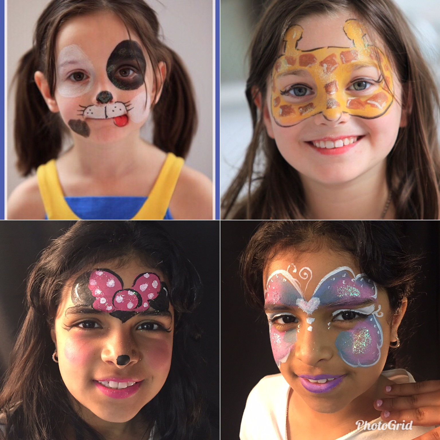 Kids Party Entertainment Packages Face Painter and Balloon Artist NYC Princess Character Clown Elsa Anna Little Mermaid Ariel Moana professional face painting NYC disney character