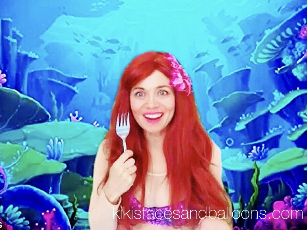 Virtual Princess Visit Little Mermaid Birthday Party Ariel Zoom Kids Magic Show Anna Elsa Frozen Moana Cinderella Sleeping Beauty Belle Jasmine Cinderella Rapunzel Wonder Scottsdale AZ Seattle Midwest Connecticut San Francisco Virginia Pennsylvania North Carolina South Carolina Los Angeles